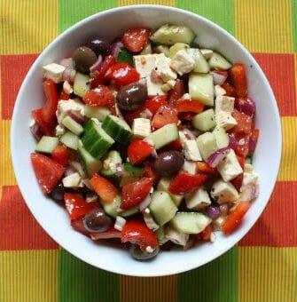greek village salad - Dahi Murgh Tikka