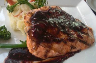 hoisin glazed salmon 380x250 - Sweet and Spicy Hoisin Glazed Salmon