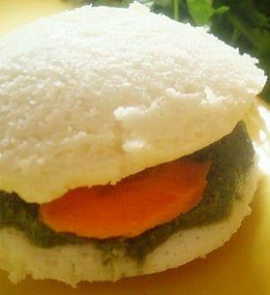 idli burger - Curd Idli