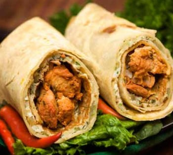kathi kabab roll - Mutton Cutlet