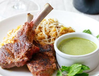 moroccan grilled lamb 380x293 - Grilled Tuna with Lemon and Mint Marinade