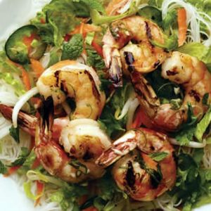 Rice Noodles and Shrimp Salad