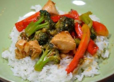 Orange, Chicken and Vegetable Stir Fry