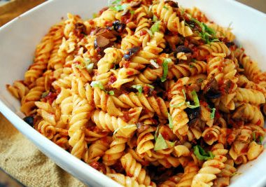 pasta sundried tomatoes 380x267 - Spicy Cabbage Pickle