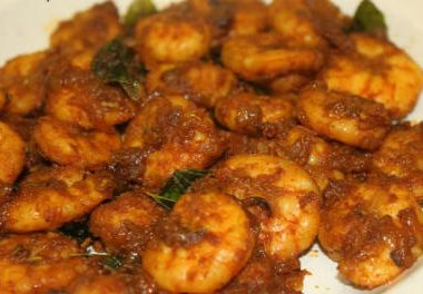prawn fry 380x264 - Capsicum Cabbage Curry