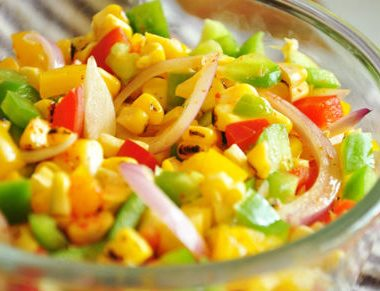 roasted corn salad 380x291 - Baked French Fries
