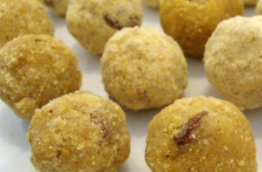 roasted gram laddu 380x250 - Pottukadalai Maladdu (Roasted Gram Laddu)