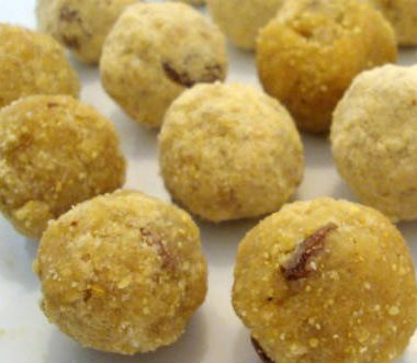 roasted gram laddu 380x331 - Pottukadalai Maladdu (Roasted Gram Laddu)