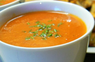 roasted red capsicum soup 380x250 - Roasted Red Capsicum Soup