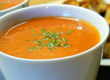Roasted Red Capsicum Soup