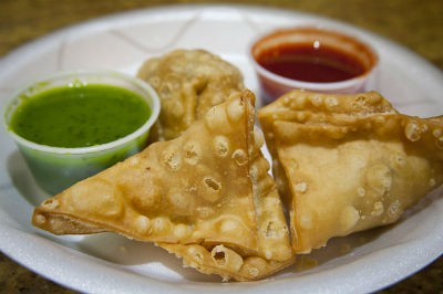 Spinach and Moong Dal Samosa