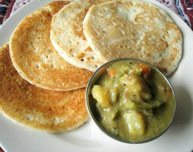 set dosa with kurma 380x300 - Sada (Plain) Dosa