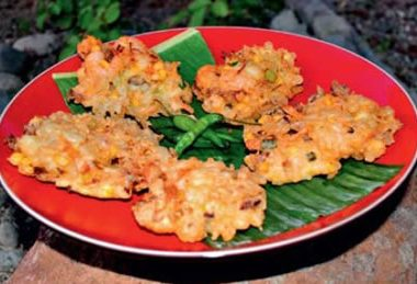 shrimp corn fritters 380x259 - Tomato and Butter Soup
