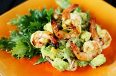 shrimp salad 380x250 - Mango and Grilled Shrimp Salad
