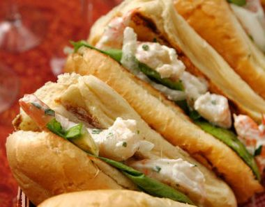 shrimp sandwich 380x298 - Grilled Chicken Club Sandwich
