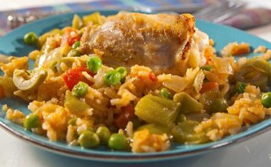 spanish chicken rice 380x235 - Orange, Chicken and Vegetable Stir Fry