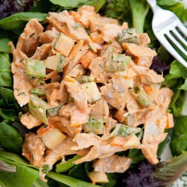 spicy chicken salad 380x380 - All About Spinach