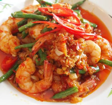 spicy lemongrass prawns 380x354 - Vietnamese Grilled Fish