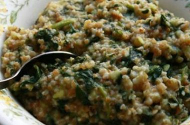 spinach pongal 380x250 - Spinach Pongal