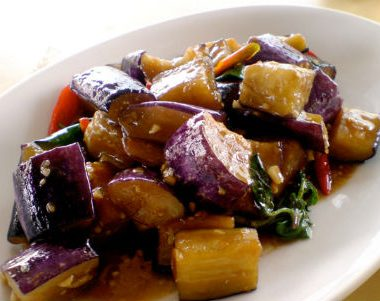 stir fried eggplant 380x301 - Creamy Grilled Eggplant