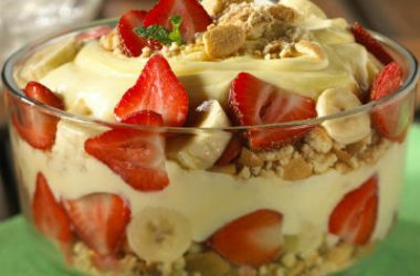 strawberry banana cream trifle 380x250 - Strawberry Banana Cream Trifle