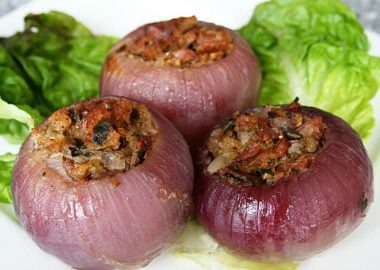 stuffed onions 380x270 - Baby Corn with Spinach