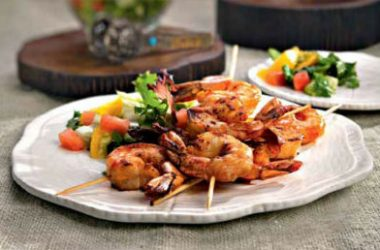tandoori skewered shrimp 380x250 - Jhinga Kebab