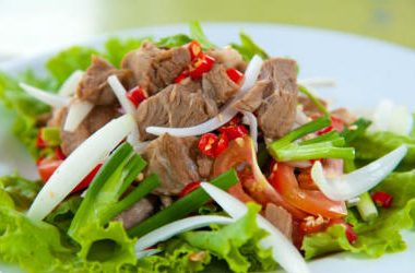 thai beef salad 380x250 - Stir-Fried Noodles with Soy Sauce