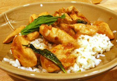 thai chicken with basil 380x264 - Thai Chicken with Basil