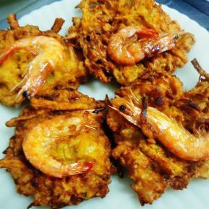 Papaya Shrimp Fritters