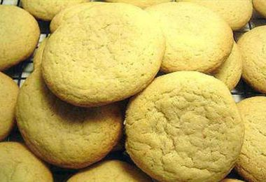 vanilla butter cookies 380x260 - Coffee Almond Cookies