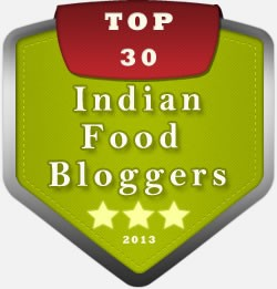 Top 30 Food Bloggers Badge