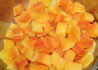 chopped papaya