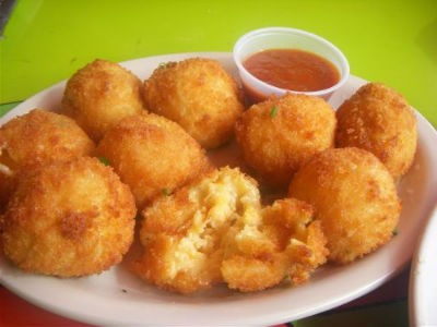 corn cheese balls - Mushroom and Corn Cheese Balls