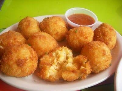 Mushroom and Corn Cheese Balls
