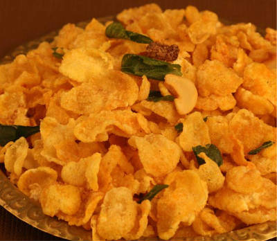 cornflakes mixture - Cornflakes and Aval Mixture