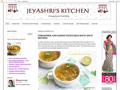 Jeyashri Suresh - Jeyashri's Kitchen