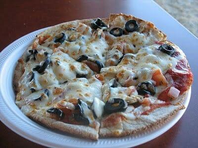 Vegetarian Pita Pizza
