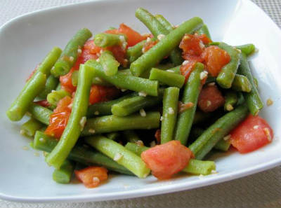 Sauteed Beans and Tomatoes