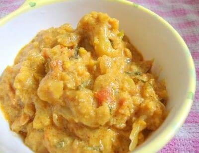 Cauliflower in Curd Gravy