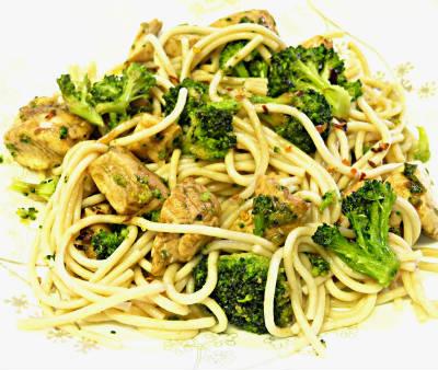 Chicken, Broccoli and Noodle Salad