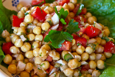 Chickpea and Cherry Tomato Salad