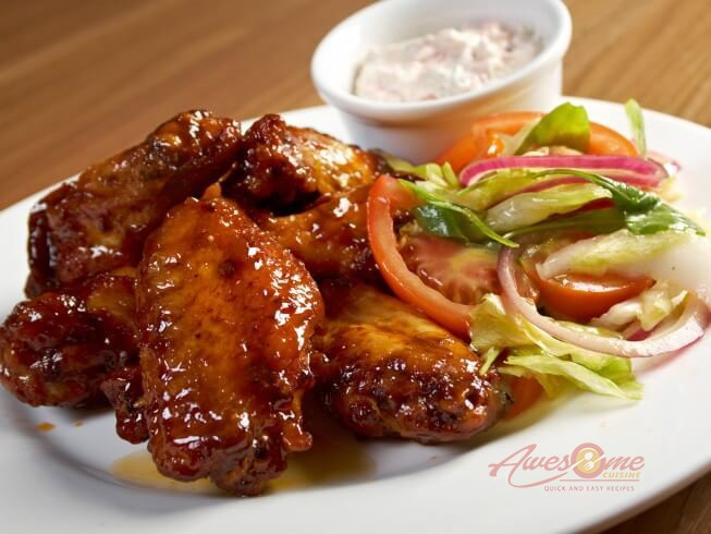 Honey Barbecued Chicken Wings
