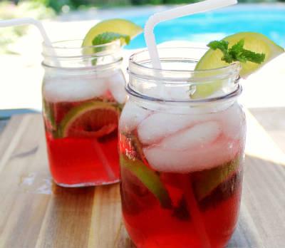 Pomegranate Mojito Mocktail