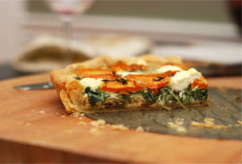 potato spinach tart - Potato and Spinach Tart