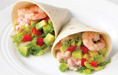 prawn avocado wrap - Prawn and Avocado Wrap