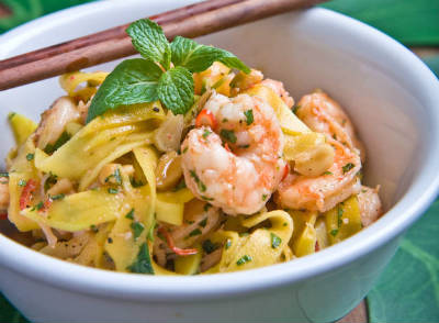 prawn green mango salad - Prawn and Green Mango Salad