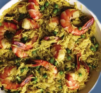 Shrimp and Green Peas Rice