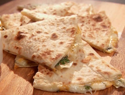 Cheese and Spring Onion Quesadillas