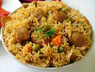 chicken soya biryani - Chicken Soya Biryani
